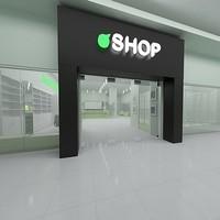 3d model modern shop