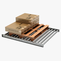 maya pallet skid floor conveyor