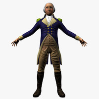 3d model george washington