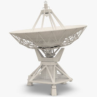 3d model satellite dish