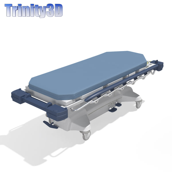 max stryker medical stretcher - Stryker Medical Stretcher... by Trinity3DModels