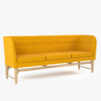 arne jacobsen mayor sofa 3d 3ds