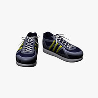 3d run shoe model