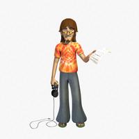 Hippie 3D models