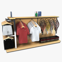 retail clothing tennis gear 3d max