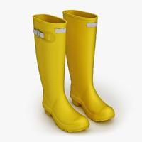 wellington boots 3d model