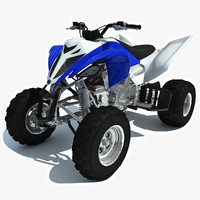 3d yamaha raptor atv sport bike model