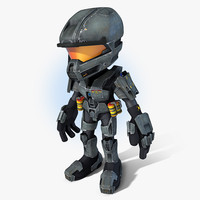 maya scifi cartoon trooper