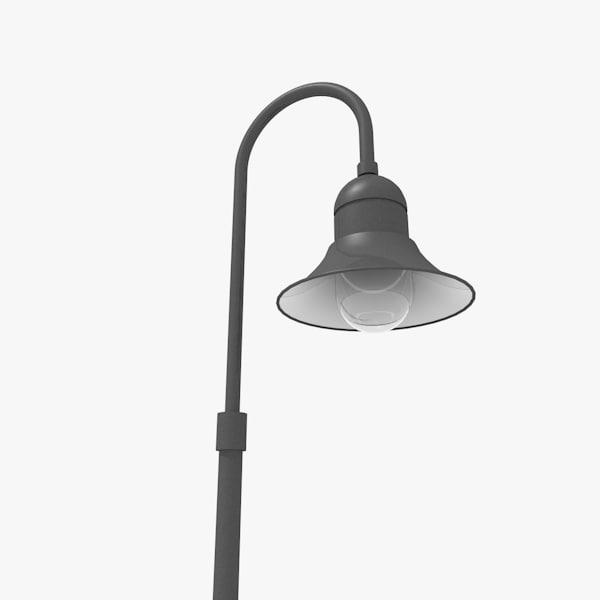 3d model pole luminaire street light. Black Bedroom Furniture Sets. Home Design Ideas