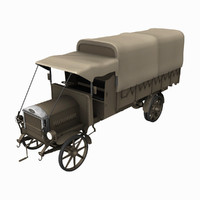 WW1 Dennis Lorry Truck