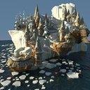cartoon city 3D models
