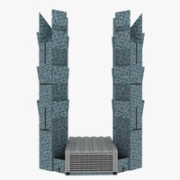 palm twin towers 3d model