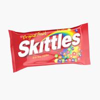 3d skittles package model