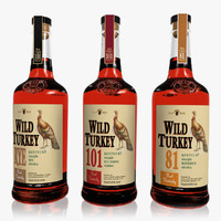 3ds realistic wild turkey set
