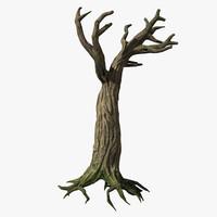 spooky tree 3d model