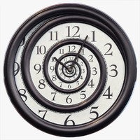 3d model hypnotic spiral wall clock