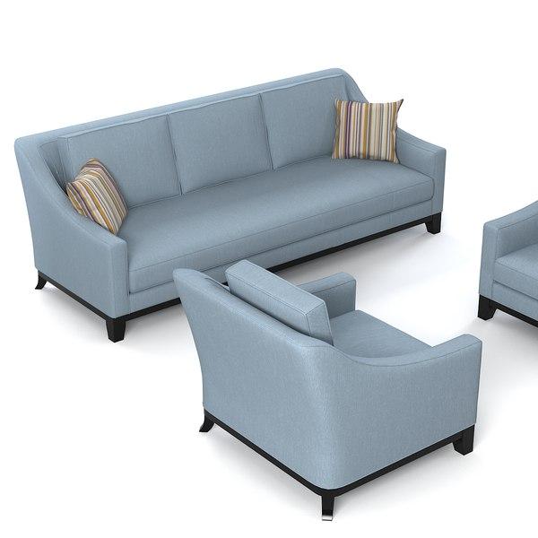 3d model baker neue sofa chair. Black Bedroom Furniture Sets. Home Design Ideas