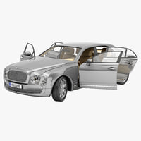 3d model bentley mulsanne mulliner 2013