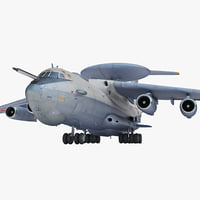 3d model ilyushin il-76 candid rigged