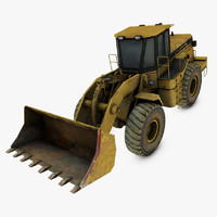 3d model open pit loader