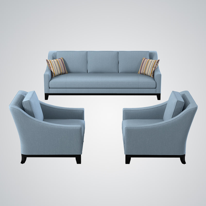 3d model baker neue sofa chair for Sofa set designer collection
