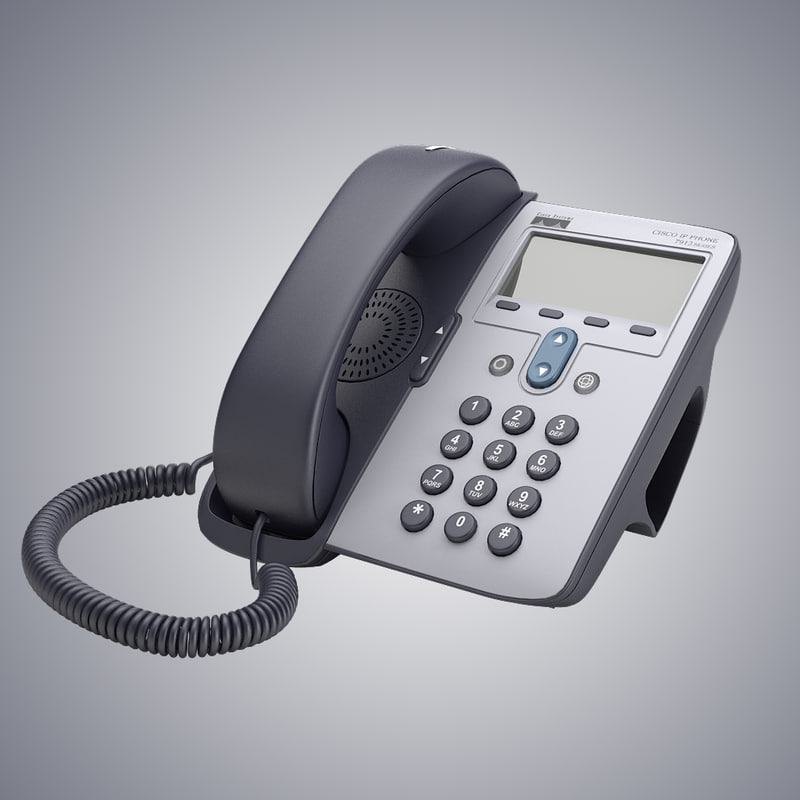 b Cisco ip corded telephone phone digital compact hotel equipmant office desk table device lcd  0001.jpg