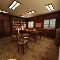 max wood office interior