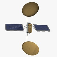 3d muos-2 tactical satellite model