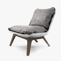 3d model houston armchair baxter