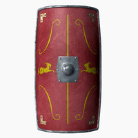 obj roman shield