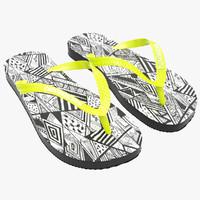 3d obj havaianas sandals