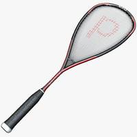 3d squash racquet