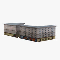 3d ussr civil building model
