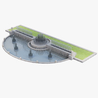 city fountain water 3d model