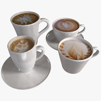 3d coffee cups model