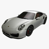 3d porsche 911 turbo 2014