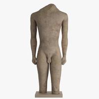 3dsmax stone statue kouros