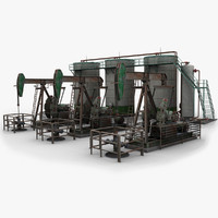 Pumpjack and Oil Tanks