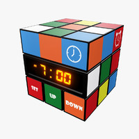 3d model rubik clock