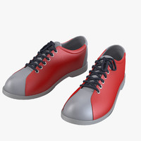 3ds max bowling sport shoes