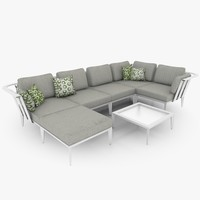 3d casual lounge furniture set