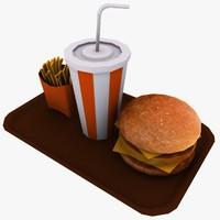 3d fast food model