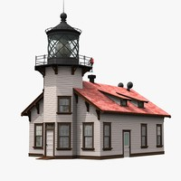 point cabrillo light station 3d model