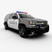 chevrolet suburban police 3d model