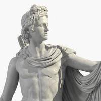 3ds max apollo belvedere sculptures