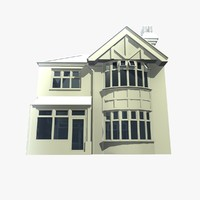 2 british detached houses 3d model