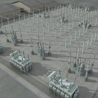 Electrical Substation Scene