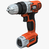 drill black decker ldx112c 3d 3ds