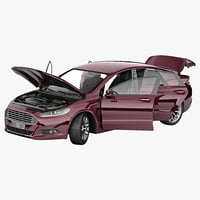 3d mondeo 2013 rigged car