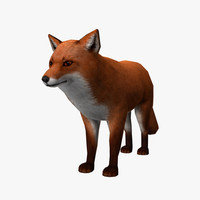 3d model fox edge loop